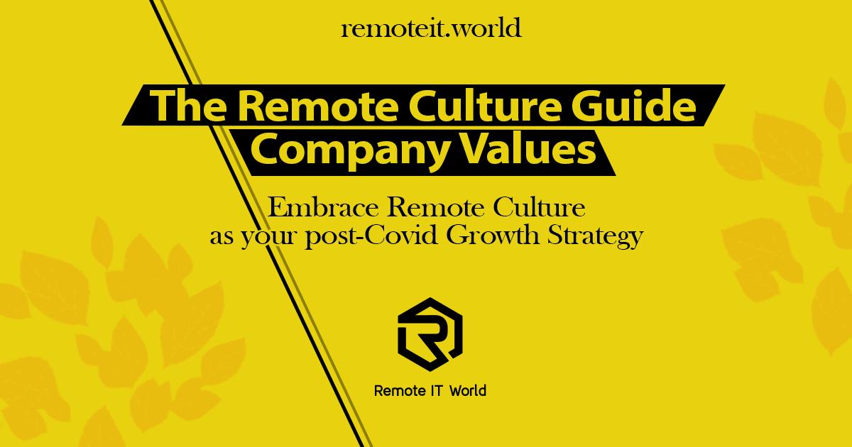 The Remote Culture Guide Company Values